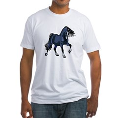 Fantasy Horse Blue Fitted T-Shirt