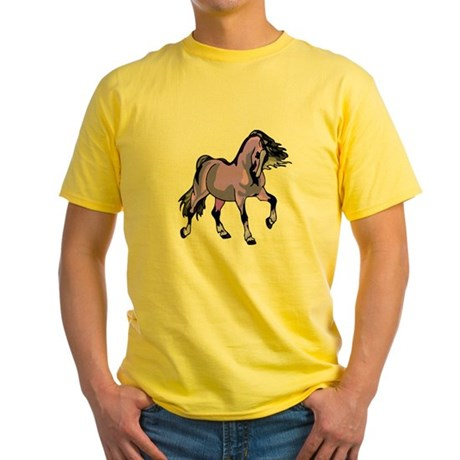Fantasy Horse Lilac Yellow T-Shirt