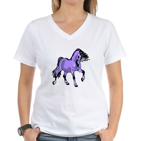 Fantasy Horse Lilac Women's V-Neck T-Shirt