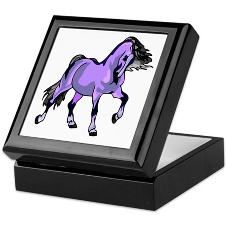Fantasy Horse Lilac Keepsake Box