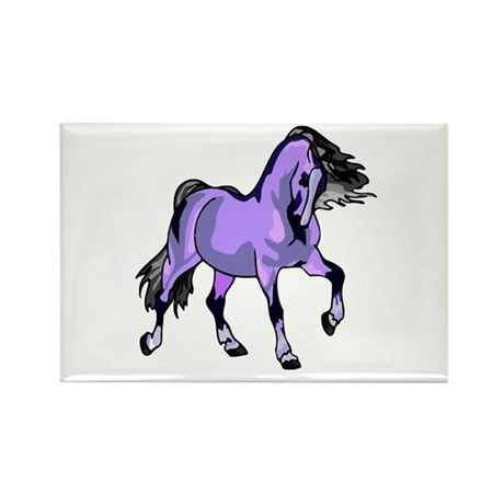 Fantasy Horse Lilac Rectangle Magnet