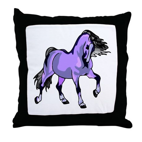 Fantasy Horse Lilac Throw Pillow