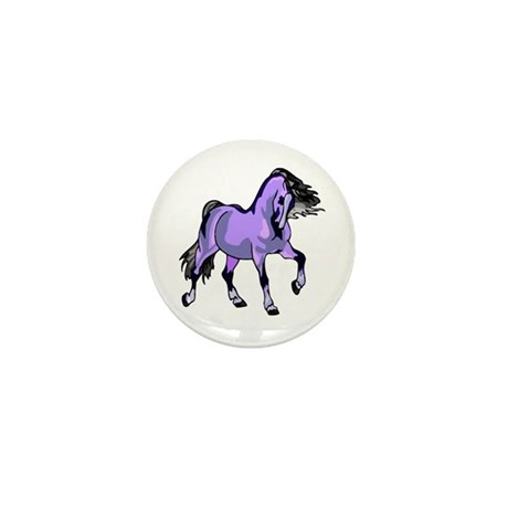 Fantasy Horse Lilac Mini Button