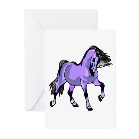 Fantasy Horse Lilac Greeting Cards (Pk of 10)