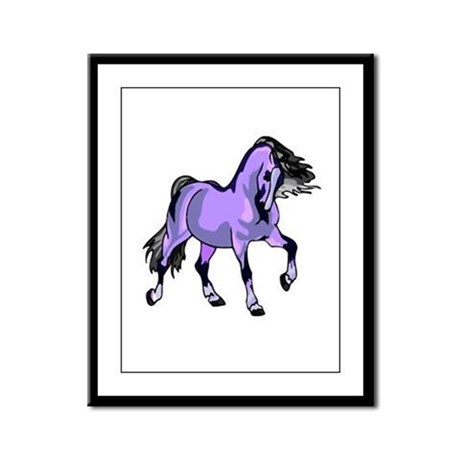 Fantasy Horse Lilac Framed Panel Print