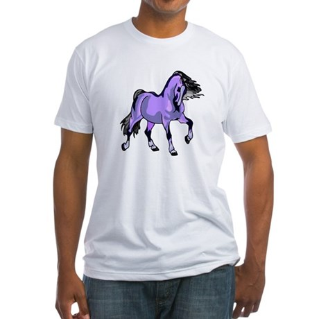 Fantasy Horse Lilac Fitted T-Shirt