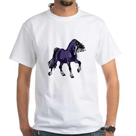 Fantasy Horse Purple White T-Shirt