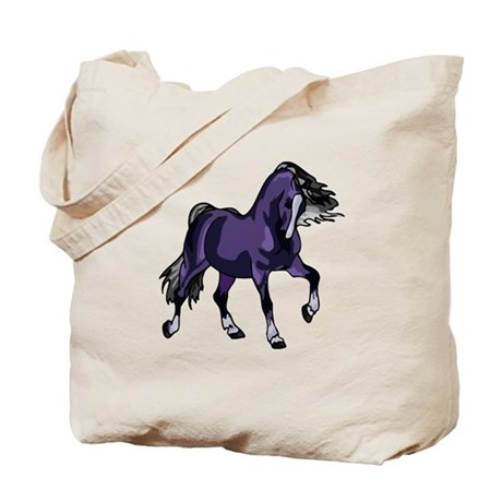 Fantasy Horse Purple Tote Bag