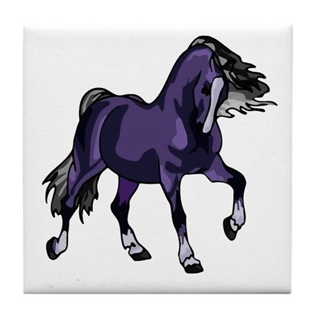 Fantasy Horse Purple Tile Coaster