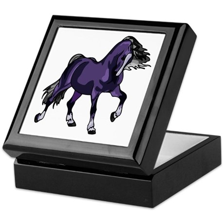 Fantasy Horse Purple Keepsake Box