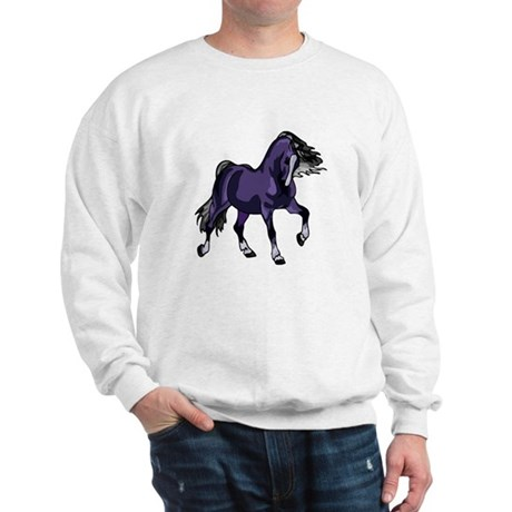 Fantasy Horse Purple Sweatshirt