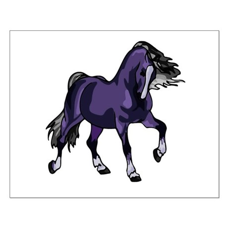 Fantasy Horse Purple Small Poster