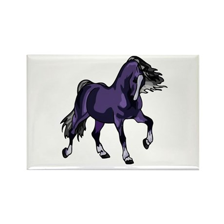 Fantasy Horse Purple Rectangle Magnet (100 pack)