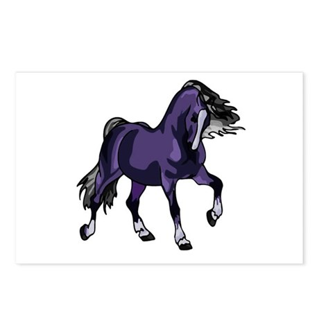 Fantasy Horse Purple Postcards (Package of 8)