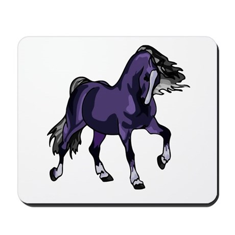Fantasy Horse Purple Mousepad