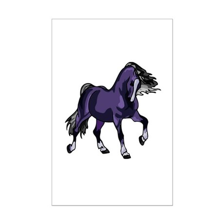Fantasy Horse Purple Mini Poster Print