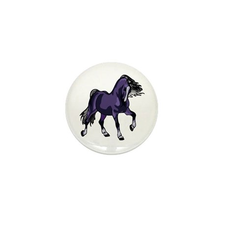 Fantasy Horse Purple Mini Button
