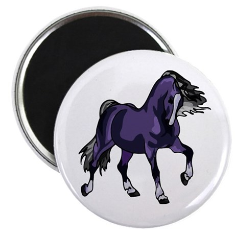 "Fantasy Horse Purple 2.25"" Magnet (100 pack)"
