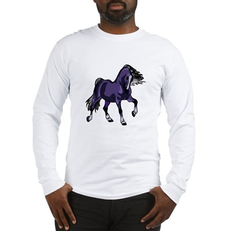 Fantasy Horse Purple Long Sleeve T-Shirt