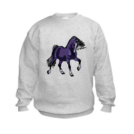 Fantasy Horse Purple Kids Sweatshirt