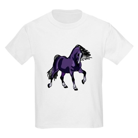 Fantasy Horse Purple Kids Light T-Shirt