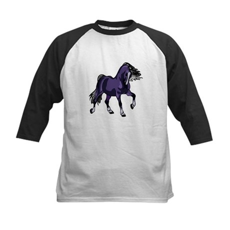 Fantasy Horse Purple Kids Baseball Jersey