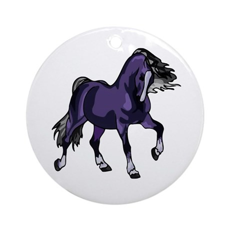 Fantasy Horse Purple Ornament (Round)