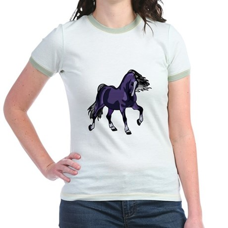 Fantasy Horse Purple Jr. Ringer T-Shirt