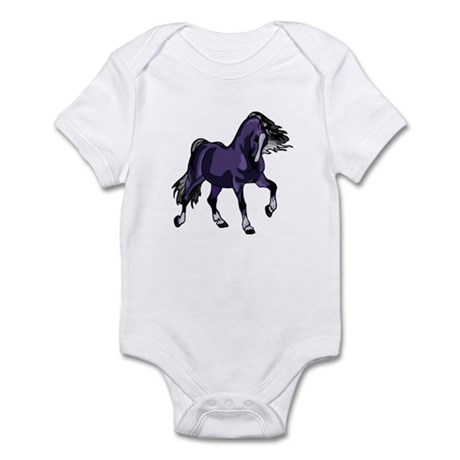 Fantasy Horse Purple Infant Bodysuit