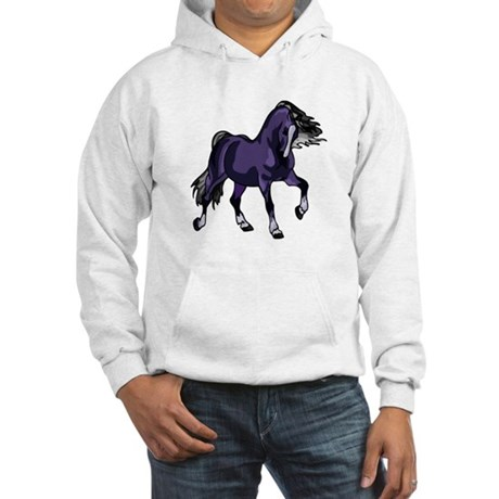 Fantasy Horse Purple Hooded Sweatshirt