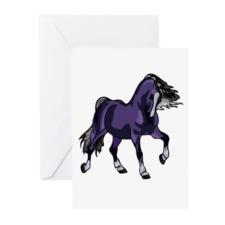 Fantasy Horse Purple Greeting Cards (Pk of 10)