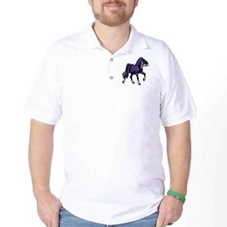 Fantasy Horse Purple Golf Shirt