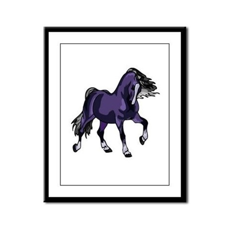 Fantasy Horse Purple Framed Panel Print