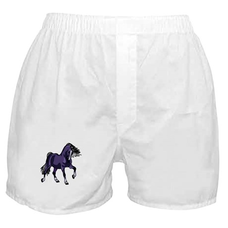 Fantasy Horse Purple Boxer Shorts