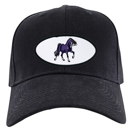 Fantasy Horse Purple Black Cap