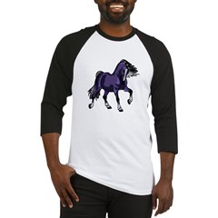 Fantasy Horse Purple Baseball Jersey