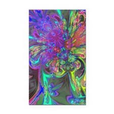 Glowing Burst of Color Deva Rectangle Car Magnet