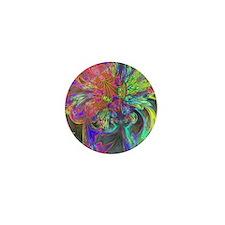 Bright Burst of Color Deva Mini Button