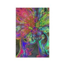Bright Burst of Color Deva Rectangle Magnet
