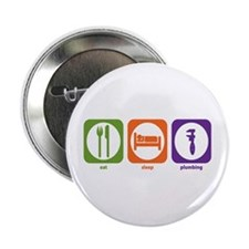 "Eat Sleep Plumbing 2.25"" Button (10 pack)"