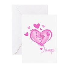 I Love My Bump Pink Greeting Cards (Pk of 10)
