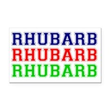 RHUBARB - RHUBARB - RHUBARB Rectangle Car Magnet
