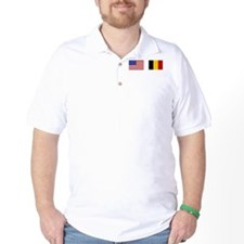 USA & Belgian Flags T-Shirt