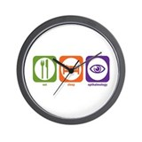Eat Sleep Opthalmology Wall Clock