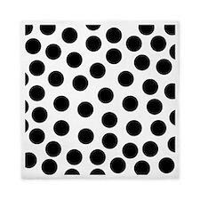 Big Black Polka Dots Queen Duvet