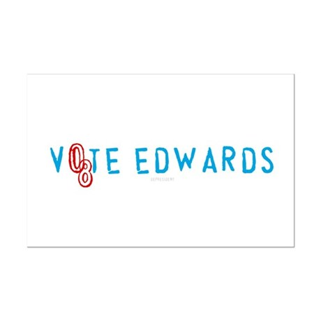 Vote Edwards 08 Mini Poster Print
