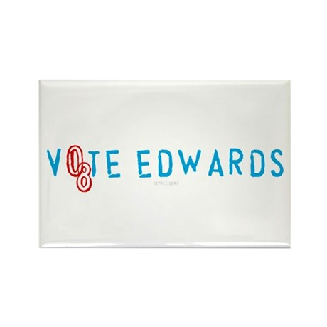 Vote Edwards 08 Rectangle Magnet