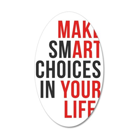 Smart quote 35x21 Oval Wall Decal