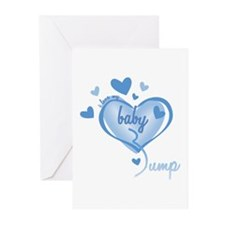 I Love My Bump Blue Greeting Cards (Pk of 10)