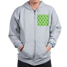 Pretty green geometric pillow design Zip Hoodie